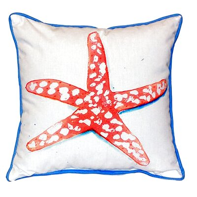 Starfish Indoor/Outdoor Throw Pillow Size: Small