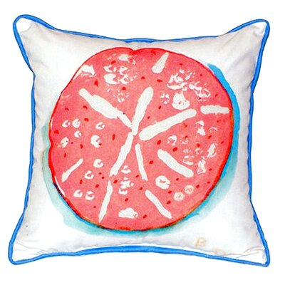 Sand Dollar Indoor/Outdoor Throw Pillow Size: Small