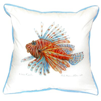 Lion Fish Indoor/Outdoor Throw Pillow Size: Small