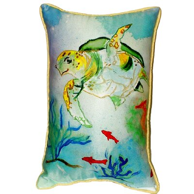 Coastal Sea Turtle Indoor/Outdoor Lumbar Pillow