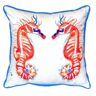 Sea Horses Indoor/Outdoor Throw Pillow Size: Large