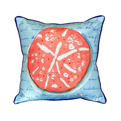 Sand Dollar Indoor/Outdoor Throw Pillow Size: Large