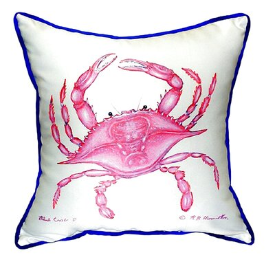 Crab Indoor/Outdoor Throw Pillow Size: Large