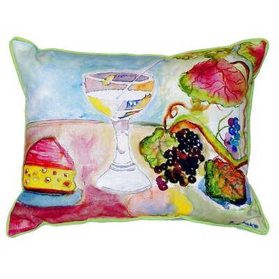 Wine and Cheese Indoor/Outdoor Lumbar Pillow Size: Small