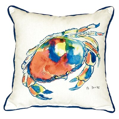 Dungeness Crab Indoor/Outdoor Throw Pillow Size: Large