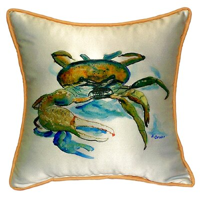 Fiddler Crab Indoor/Outdoor Throw Pillow Size: Large