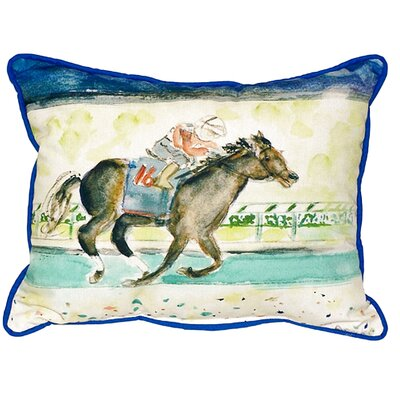 Derby Winner Indoor/Outdoor Lumbar Pillow Size: Large