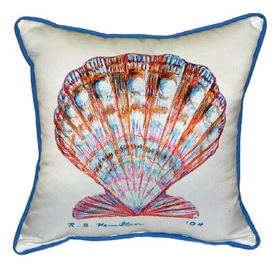 Scallop 22 Indoor/Outdoor Throw Pillow Color: White