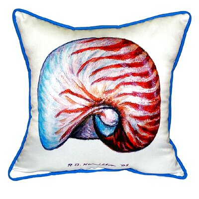 Nautilus Indoor/Outdoor Throw Pillow Color: White, Size: 22 H x 22 W