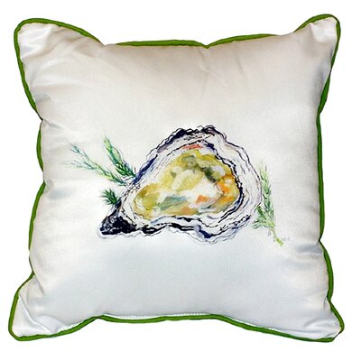 Oyster Indoor/Outdoor Euro Pillow Color: White