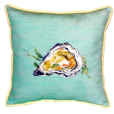 Oyster Indoor/Outdoor Euro Pillow Color: Green
