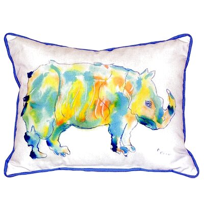 Rhino Indoor/Outdoor Lumbar Pillow Size: Small