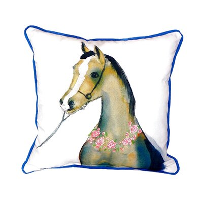 Horse and Garland Indoor/Outdoor Throw Pillow