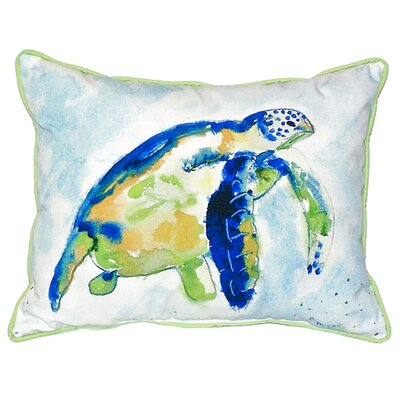 Sea Turtle Indoor/Outdoor Lumbar Pillow Size: Small