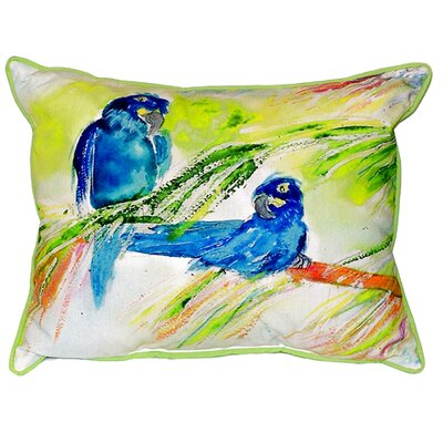Two Parrots Indoor/Outdoor Lumbar Pillow Size: Small