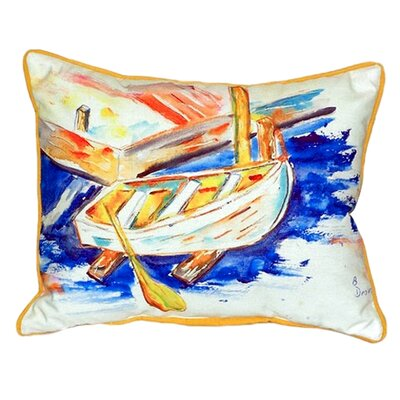 Row Boat Indoor/Outdoor Lumbar Pillow Size: Large