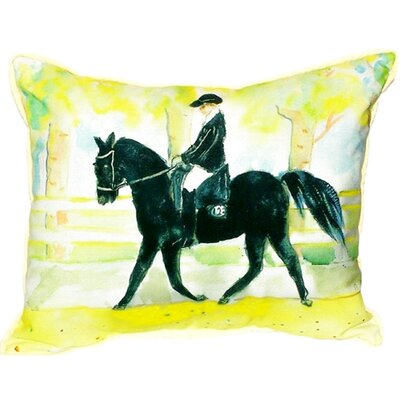 Horse and Rider Indoor/Outdoor Lumbar Pillow Size: Small
