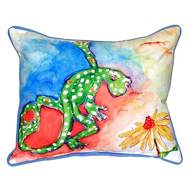 Gecko Indoor/Outdoor Lumbar Pillow Size: Large