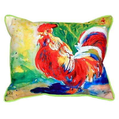 Rooster Indoor/Outdoor Lumbar Pillow Size: Small