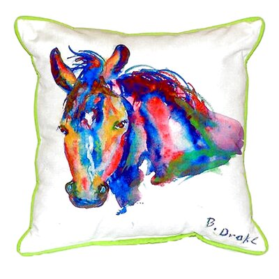 Nellie Horse Indoor/Outdoor Lumbar Pillow Size: Small