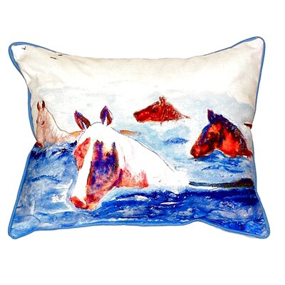 Chincoteague Ponies Indoor/Outdoor Lumbar Pillow Size: Large