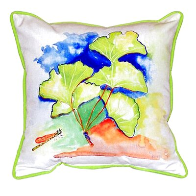 Ginko Leaves Indoor/Outdoor Throw Pillow Size: Large