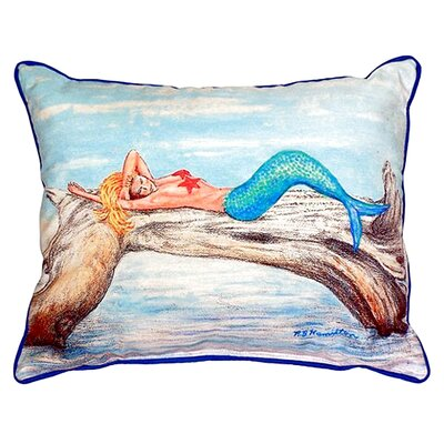 Mermaid on Log Indoor/Outdoor Lumbar Pillow