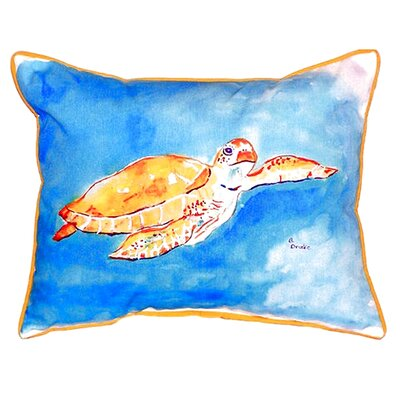 Brown Sea Turtle Indoor/Outdoor Lumbar Pillow
