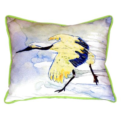 Crane Indoor/Outdoor Lumbar Pillow Size: Small