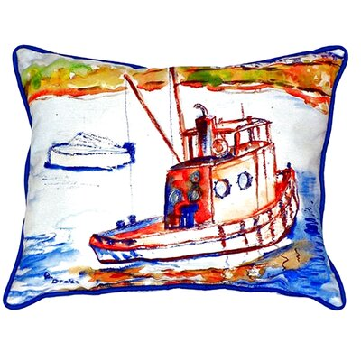 Rusty Boat Indoor/Outdoor Lumbar Pillow Size: Small