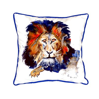 Lion Indoor/Outdoor Throw Pillow
