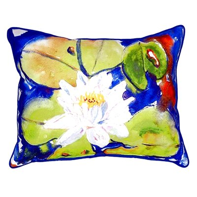 Lily Pad Flower 24 Indoor/Outdoor Lumbar Pillow