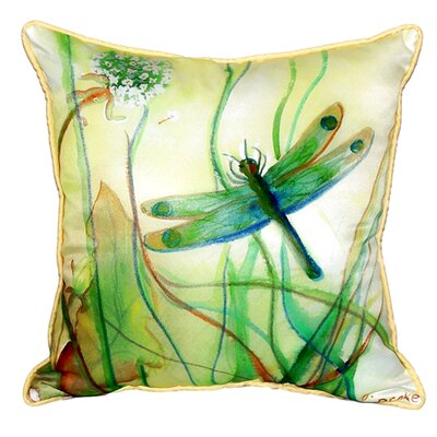 Dragonfly Indoor/Outdoor Throw Pillow Size: Large