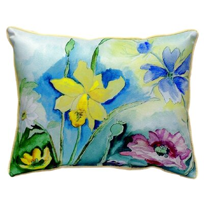 Florals Indoor/Outdoor Lumbar Pillow Size: Large
