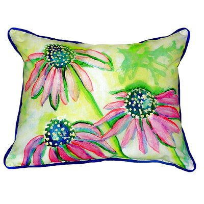 Cone Flowers Indoor/Outdoor Lumbar Pillow Size: Large