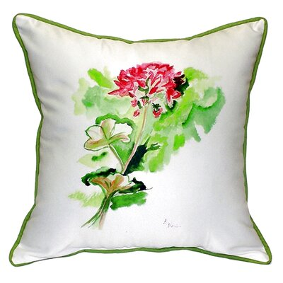 Geranium Indoor/Outdoor Throw Pillow Size: Large