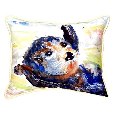 Otter Indoor/Outdoor Lumbar Pillow Size: Small