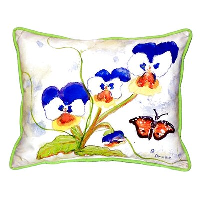 Pansies Indoor/Outdoor Lumbar Pillow Size: Large