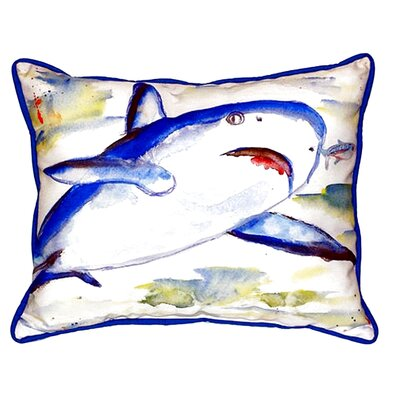 Shark Indoor/Outdoor Lumbar Pillow Size: Small