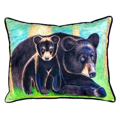 Bear and Cub Indoor/Outdoor Lumbar Pillow Size: Small