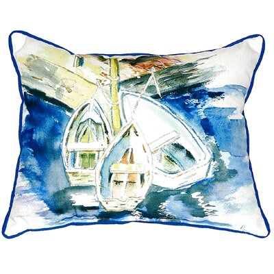 Three Row Boats Indoor/Outdoor Lumbar Pillow Size: Large
