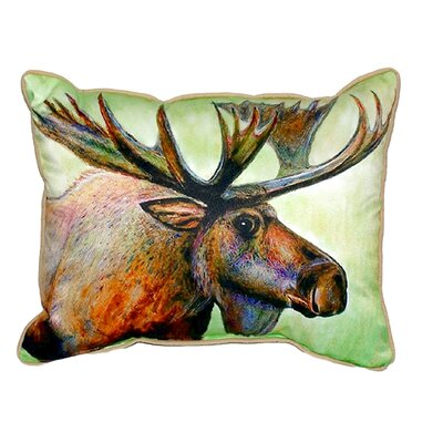 Moose Indoor/Outdoor Lumbar Pillow