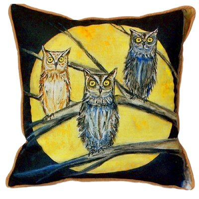 Night Owls Indoor/Outdoor Throw Pillow Size: Small