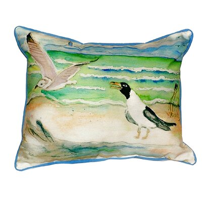 Seagulls Indoor/Outdoor Lumbar Pillow Size: Large