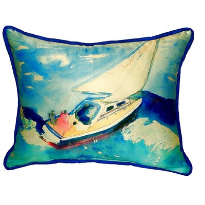 Sailboat Indoor/Outdoor Lumbar Pillow Size: Small