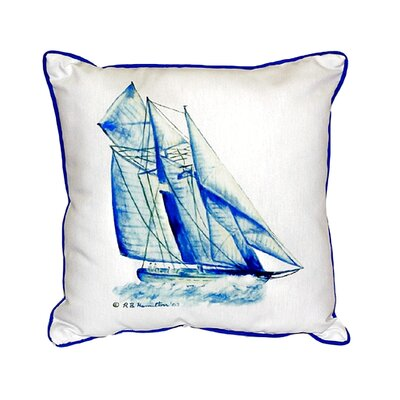 Sailboat Indoor/Outdoor Throw Pillow