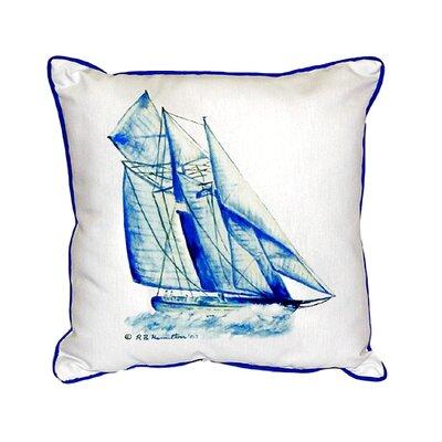 Sailboat Indoor/Outdoor Throw Pillow