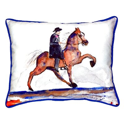 Brown Walking Horse Indoor/Outdoor Lumbar Pillow