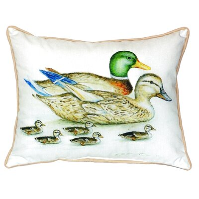Mallard Family Indoor/Outdoor Throw Pillow Size: Small