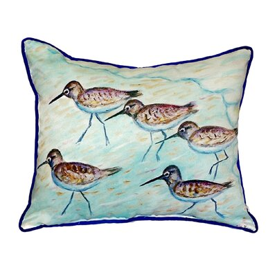 Sandpipers Indoor/Outdoor Throw Pillow